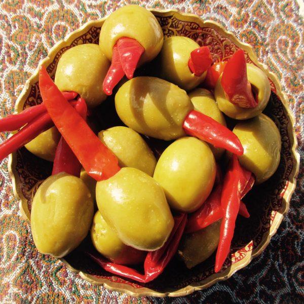 Olives Stuffed Piri Piri